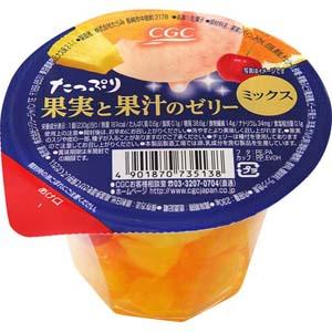 たっぷり果実と果汁のゼリー ミックス